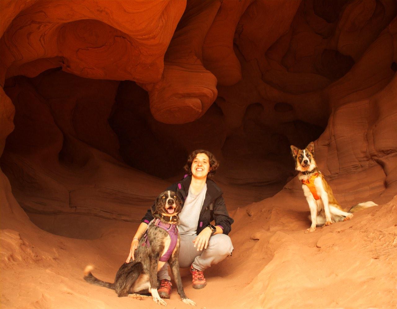 Coves de Can Riera con perro