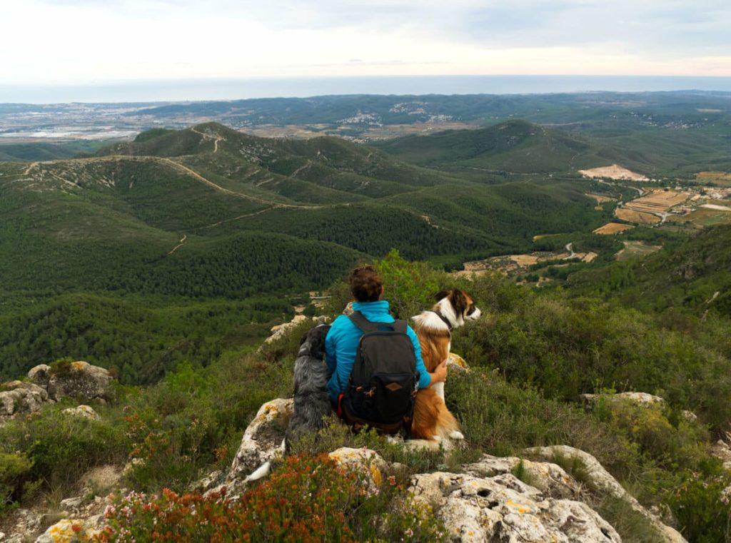 Talaia de Montmell con perro. 100 cims